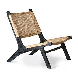 Image: Webbing Lounge Chair Black/Natural
