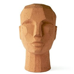 Image: Abstract Head Sculpture Terracotta