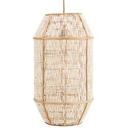 Image: Bamboo And Linen Pendant
