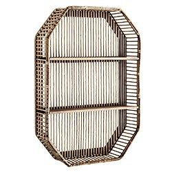 Image: Bamboo Wall Shelf Hexagonal