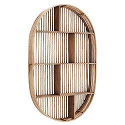 Image: Bamboo Wall Shelf Oval