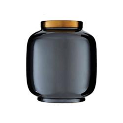 Image: Stellar Metallic Vase Black
